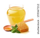 honey with mint | Shutterstock . vector #155367212