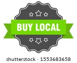 buy local isolated seal sign.... | Shutterstock .eps vector #1553683658