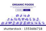 organic foods landing web page... | Shutterstock .eps vector #1553686718