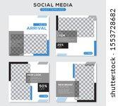 set modern square editable... | Shutterstock .eps vector #1553728682