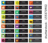 buttons and icons for website.... | Shutterstock .eps vector #155373902