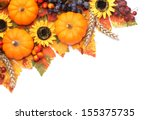 pumpkins and colorful autumn... | Shutterstock . vector #155375735