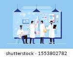 researchers study of genetics... | Shutterstock .eps vector #1553802782
