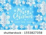 christmas paper snowflakes...   Shutterstock .eps vector #1553827358