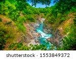 Turquoise Mountain River Flows...