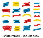 ribbon vector set on white... | Shutterstock .eps vector #1553855852