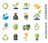 environment icons | Shutterstock .eps vector #155386898