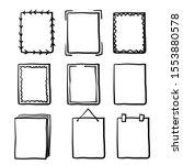 Set Of Hand Drawn Doodle Frames ...