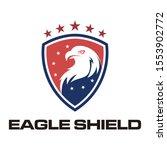 eagle shield logo icon vector | Shutterstock .eps vector #1553902772