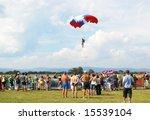 world parachuting championship...   Shutterstock . vector #15539104