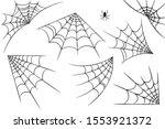 vector illustration of a cobweb ...   Shutterstock .eps vector #1553921372