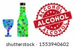 collage alcohol and grunge... | Shutterstock .eps vector #1553940602