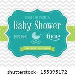 baby shower invitation | Shutterstock . vector #155395172