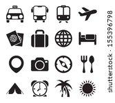 travel icons | Shutterstock .eps vector #155396798