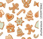 christmas seamless background.... | Shutterstock .eps vector #1553973062