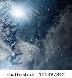 man with conceptual spiritual... | Shutterstock . vector #155397842