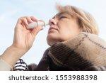 sick ill senior mature woman... | Shutterstock . vector #1553988398