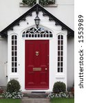 red home door  ireland . | Shutterstock . vector #1553989