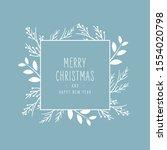 merry christmas modern elegant... | Shutterstock .eps vector #1554020798
