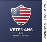 veterans day. vector... | Shutterstock .eps vector #1554045692