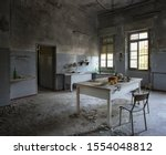 An Abandoned Kitchen In An...