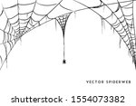 vector illustration of a cobweb ... | Shutterstock .eps vector #1554073382