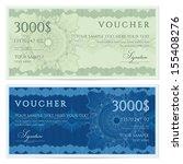 voucher  gift certificate ... | Shutterstock .eps vector #155408276