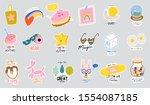 cute scandinavian characters... | Shutterstock .eps vector #1554087185