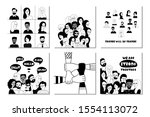 multinational group of people... | Shutterstock .eps vector #1554113072