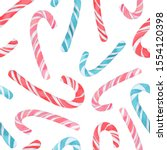 Christmas Candy Canes In Red ...