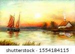 Fisherman  Sailing Boat At...