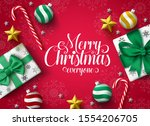 christmas greeting vector... | Shutterstock .eps vector #1554206705