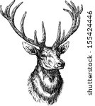 animal head,antler,deer,ears,hand drawn,head,hoofed,isolated on white,mammal,muzzle,portrait,realistic,sketch,snout,stag