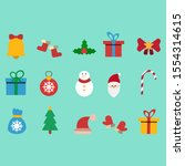 simple and cute christmas... | Shutterstock .eps vector #1554314615