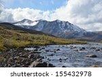 Snowy Mountain Peak And Stream