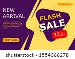 flash sale discount 70   banner....   Shutterstock .eps vector #1554366278