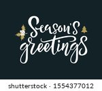 season greetings white... | Shutterstock .eps vector #1554377012