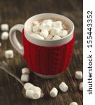 mug filled with hot chocolate... | Shutterstock . vector #155443352
