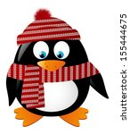 cute penguin isolated on white | Shutterstock .eps vector #155444675