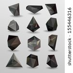 abstract modern  polygonal... | Shutterstock .eps vector #155446316