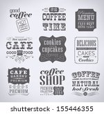 retro bakery labels and... | Shutterstock .eps vector #155446355