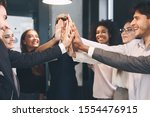 teambuilding and unity. happy...   Shutterstock . vector #1554476915