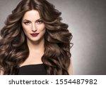 Brunette Hair Woman Beauty...