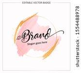 feminine badge. elegant... | Shutterstock .eps vector #1554488978