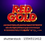 bold metallic red and gold...   Shutterstock .eps vector #1554511412