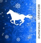 the new year horse.vintage... | Shutterstock . vector #155454188