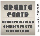 set of creative alphabets .... | Shutterstock .eps vector #155456858