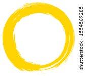 grunge circle brush stroke...   Shutterstock .eps vector #1554569285