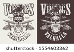 t shirt print with viking head... | Shutterstock . vector #1554603362