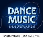 vector glowing sign dance music.... | Shutterstock .eps vector #1554613748